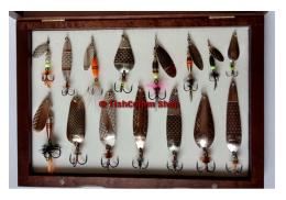 Подарочный набор блесен ручной работы Алекс Краш 15 шт. автор В. Терехин №12